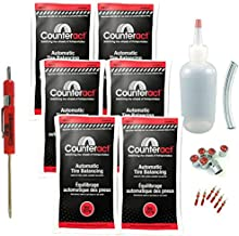Counteract DIYDK-8 Do It Yourself Tire/Wheel Balancing Beads Dually Kit - Light/Medium Duty Truck Tires, (6) 8oz DIY Bead Bags, (6) Valve Caps and Cores, (1) Core Remover, Injector Bottle