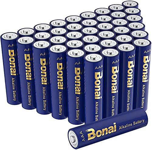 BONAI 乾電池 単4形 アルカリ電池 40個セット,強力な耐久性と長いバッテリー寿命