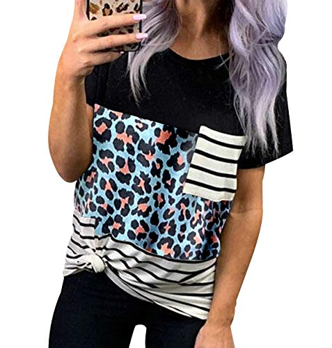 Camiseta Cuello Alto Mujer Camiseta Deportiva Mujer Blusa Tirantes Mujer Camiseta Ancha Mujer Camisetas Verano Mujer Camisetas Mujer Baratas Blusa Elegante Mujer Mancha Azul 2XL