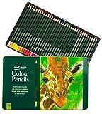 Mont Marte Lapices de Colores - 36 piezas en una elegante Caja de Metal - Ideal para Pinturas Vibrantes y Coloridas