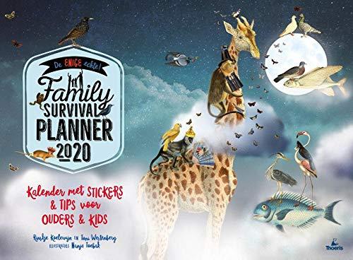 De family survival planner 2020: kalender met stickers+ tips voor ouders+ kids