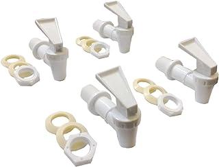 AquaNation BPA Free Replacement Cooler Faucet Water Bottle Jug Ceramic Water Crock Reusable Spigot Spout Water Beverage Lever Pour Dispenser Valve Gravity Water Tap Set of 4 (Set of 4 White)