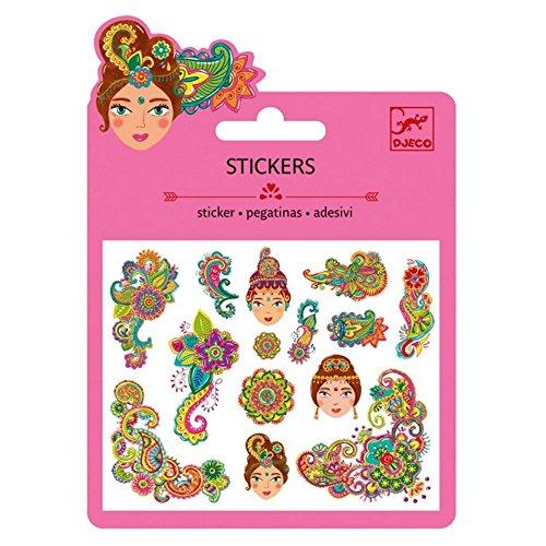 Lovely Paper- Ballons autocollants mini autocollants motifs indiens, multicolore (100)