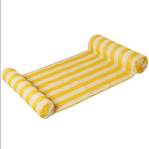 LILINA Trend Freizeit Schwimmende Bett Schwimmende Wasser Bett Aufblasbare H ematte Schwimmende Reihe Schwimmen Schwimmende Kissen Schwimmen Wasser Liefert,Gelb