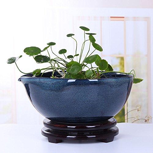 2 x Bell pot 43 CM rond Jardiniere Terre Cuite Jardin Plante Pots Patio Fleur Plante
