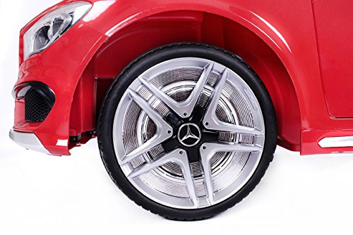 RC Auto kaufen Kinderauto Bild 5: Mercedes CLA 45 AMG Elektroauto Kinderelektroauto Elektrofahrzeug. Farbe: Rot*