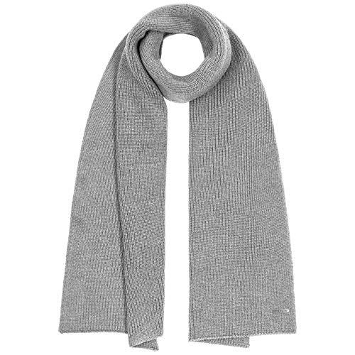 Stetson Caledonia Merino Winterschal Damen/Herren - Made in Italy Wollschal Freizeitschal Herbst-Winter - One Size grau