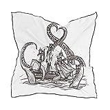 Pañuelo de flores Pulpo vintage Kraken Atacando Velero Blanco 60 × 60 CM Bufanda de mantón Cabeza ligera Estampado Envolturas para mujeres Damas Cuadrado