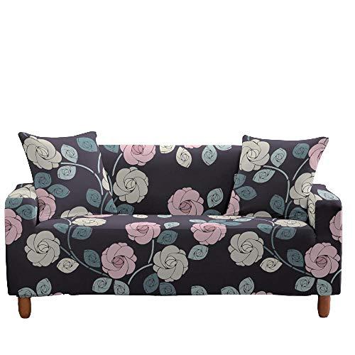 Funda elástica para sofá, Todo Incluido, Antideslizante, patrón Floral, Asiento, sofá, Fundas para sofá, Protector de Muebles, decoración del hogar,7,3 Seater(185-235cm)