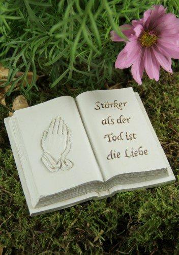 Grabbuch betende Hände
