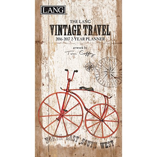 Lang Vintage Travel 2016 Two Year Planner by Tim Coffey, January 2016 to December 2017, 3.5 x 6.375 Inches (1071090)