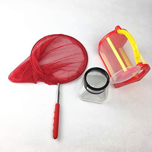 juler Juguetes educativos Juguetes Stem Kits de Ciencias Jaula de Insectos Caja de alimentación con Jaula de Mariposa Caja de observación de Insectos Red,Transparente,Un tamaño