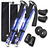 Trekking Poles Collapsible Hiking Poles - Aluminum Alloy 7075...