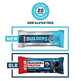 CLIF BUILDERS - Protein Bars - Cookies and Cream - 20g Protein (2.4 Ounce, 12 Count) (Now Gluten Free)