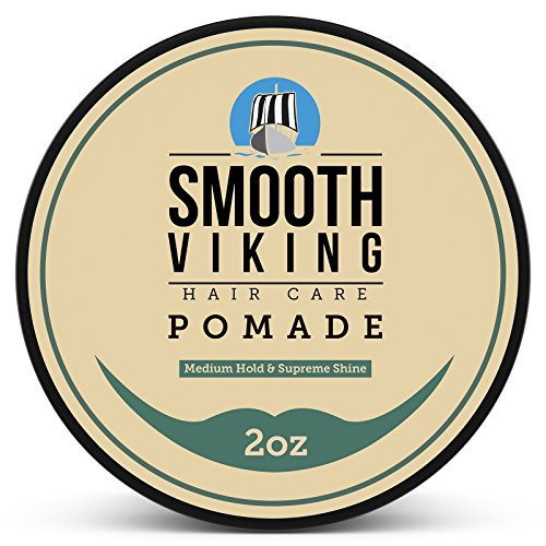 Pomade for Men, Medium Hold & High Shine,Hair Styling Formula for Straight, Thick and Curly...