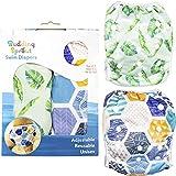 Pañales de natación para bebés (juego de dos), tamaño universal de N a 5. 100% poliéster, secado rápido y malla interior súper suave