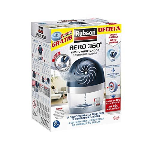Rubson AERO 360º Deshumidificador recargable, absorbe humedad, previe