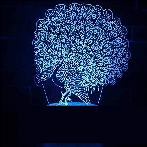 Haushaltsgeräte Intelligente Nachtlicht Tischlampe Led 3D Visual Scheinwerfer Schöne Pfau Open Wings Divine Bird Kids Geschenk Dekoration