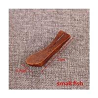 AFTWLKJ 1ピース木製和風環境に優しいキッチンガジェット箸枕テーブル装飾箸ホルダーポータブル (Color : Small fish)