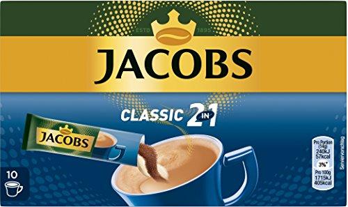 Jacobs Kaffeespezialitäten 2 in 1, 10 Sticks mit Instant Kaffee für 10 Getränke