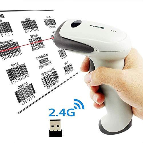 Hammer Barcode Scanner Portable de Codes à Barres 1D Filaire USB Laser Scanner, sans Fil 2,4 GHz, Lecteur de Codes à Barres, Supermarket, Inventaire, Entrepôt