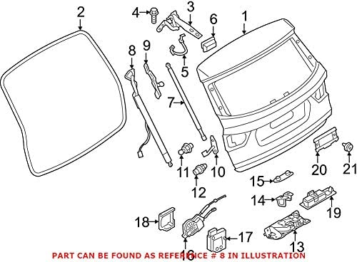 Genuine OEM Driver Left Tailgate Pull Down Motor For BMW F25 X3