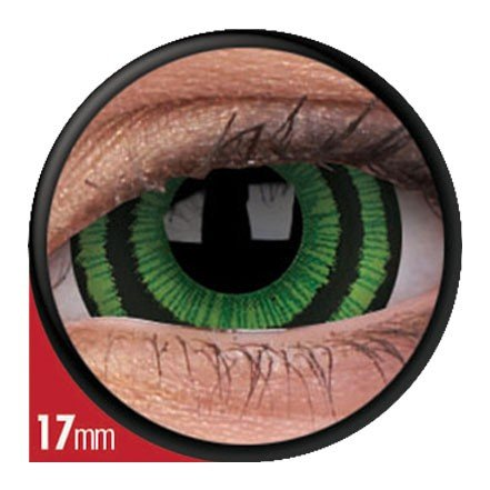 Halloween Kontaktlinse Lustige Linse Green Goblin Jährliche Einweg 17 mm stärke 0.00 von ColourVUE