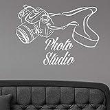 HGFDHG Photo Studio Logo calcomanías de Pared fotografía cámara Arte Vinilo...