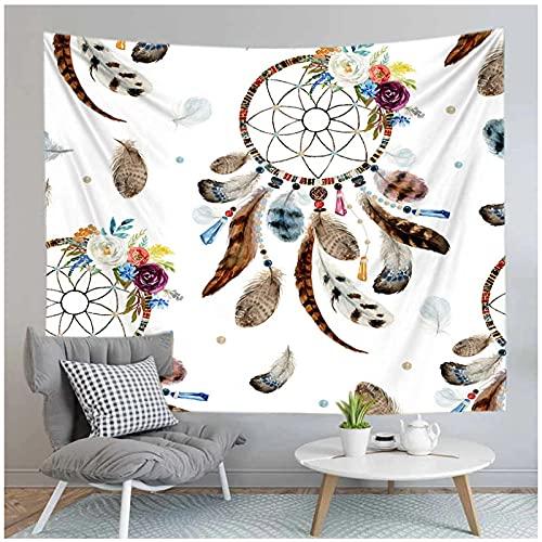Tapiz by BD-Boombdl Tapiz de manta de impresión en color de atrapasueños de poliéster para colgar en la pared tapiz para el hogar dormitorio sala de estar decoración 59.05'x78.74'Inch(150x200 Cm)