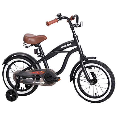 """JOYSTAR 16"""" Kids Cruiser Bike with Training Wheels for Ages 2-6 Years Old Girls & Boys, Toddler Kids Bicycle"""