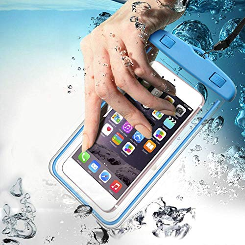 Waterproof Underwater Pouch Cover for Mobile Phone, Waterproof Mobile rain Cover for iPhone & Android, (for iPhone 6,7,8 & Samsung Galaxy m30, m31, Oppo, Vivo, Realme) for Hospitality & Earphone case