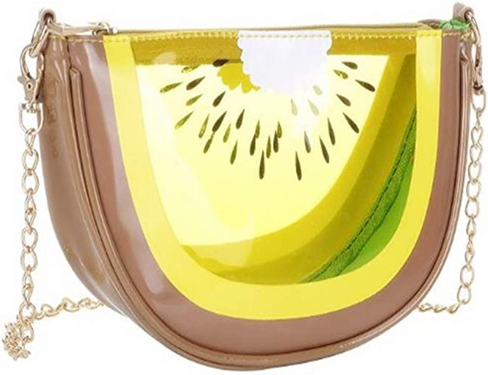 Girl's Waterproof PU Transparent All stores are sold Medium Style Cute Handb Limited time sale Fruit