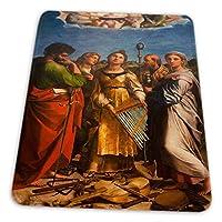 マウスパッド ゲーミングマウスパッド-ラファエル聖セシリア祭壇画美術滑り止め デスクマット 水洗い 25x30cm