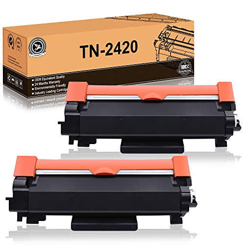 FITU WORK TN2420 TN2410 (con Chip) Cartucho Toner Compatible para Brother HL-L2310D HL-L2350DW HL-L2370DN HL-L2375DW...