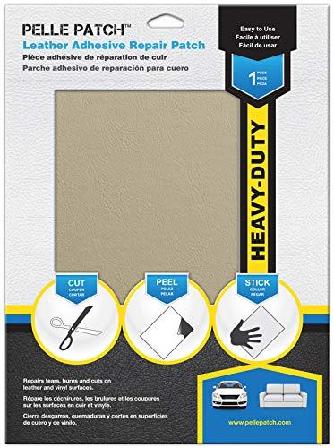 Pelle Patch - Leder & Vinyl Zelfklevende Herstelpatch - 25 Kleuren Beschikbaar - Heavy-Duty 20cm x 28cm - Crème