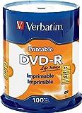Verbatim Life Series DVD-R Printable Disc Spindle, Pack Of 100