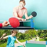 DFENCE Jeux D'intérieur en Plein Air Tennis De Table Rétractable Rack Set Ping-Pong Pagaies Kit pour Adultes Enfants