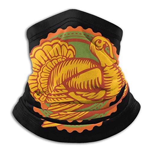 Feliz Día de Acción de Gracias Pavo Cuello Gaiter Warmer Hombres Mujeres Warm Neck Warmer-Y5