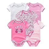 Baby Strampler 5PCS / Lot Baby-Kleidung Einhorn Mädchen Kleidung Bodysuits Baby-Kleidung 0-12M Newborn 100% Baumwolle Roupas de Bebe (Color : Baby Clothes5994, Kid Size : 9M)