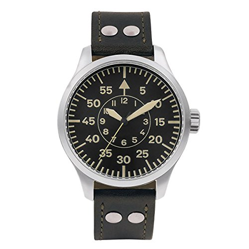 Aristo Vintage Orologio da aviatore, mano ascensore con centrale secondo...