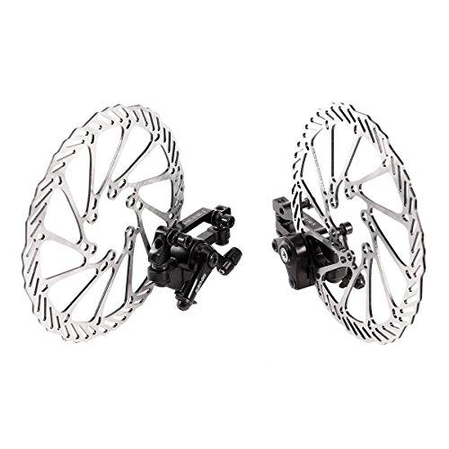 LIOOBO 1 Paar Mechanische Fahrrad Scheibenbremse Vorne Hinten Bremsscheiben Kit für Mountainbike