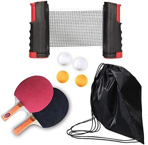 Mesa de ping pong equipo portátil Conjuntos de ping-pong, 2 raquetas de...