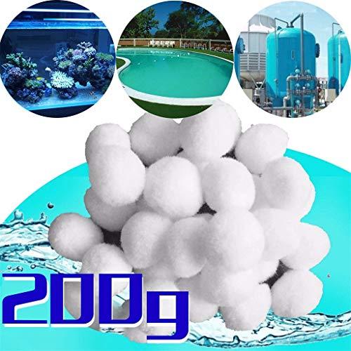 CICIYONER Filterballs für sandfilteranlagen,Filterbälle für Pool, Schwimmbad, Filterpumpe, Aquarium Sandfilter 200g/500g/700g/1400g ersetzen 7kg /18kg /25kg /50 kg Filtersand (200)