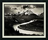 Framed Wall Art Print The Tetons and The Snake River, Grand Teton National Park, Wyoming, 1942 by Ansel Adams 26.12 x 22.12 in.
