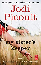 If you like Small Great Things by Jodi Picoult, try My Sister's Keeper book cover with hands in grass