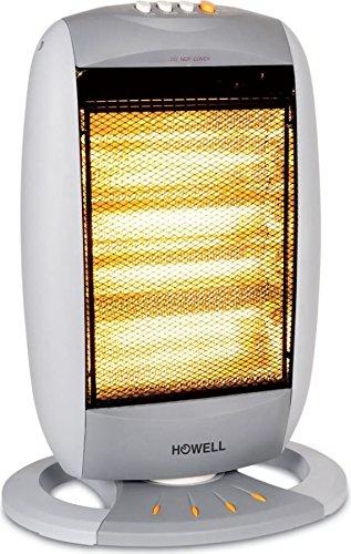 Howell RSA1810 Stufa Alogena Oscillante, 1800 Watt, Bianco/Grigio, 34x57.5x16 cm