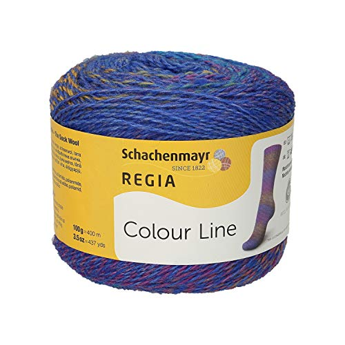 Schachenmayr REGIA Handstrickgarne Colour Line 100g Kornblume