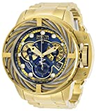 Invicta Men's Reserve Quartz Watch with Stainless Steel Strap, Gold, 26 (Model: 30128)