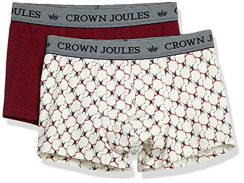 Joules Tom Herren Crown 2pk Boxer, Navy Ski, S