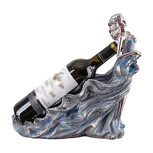 Almacenamiento de vino Botelleros de Resina Hecha A Mano Moderna Minimalista Estante del Vino Decoraciones del Arte de la Decoración del Sitio Home Living Estante del Vino 4,72 × 12,2 × 11,02 Pulgadas